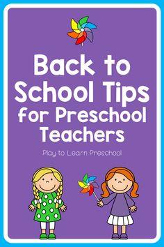 Back to School Tips for Preschool Teachers