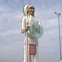 Big Cabin, OK - Giant Indian Chief - Standing Brave