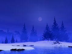 Normus, Dixie - Snowy Night, w Moon (seikoochserf- DeviantArt)