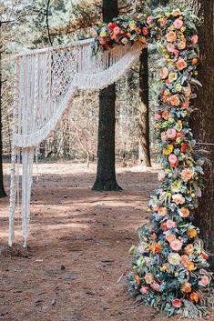 Prime 60 Most Ethereal Redwood Forest Wedding ceremony Concepts - Pintgram Redwood Forest Wedding, Woodland Wedding, Floral Wedding, Wedding Bouquets, Wedding Dresses, Wedding Colours, Nestldown Wedding, Boho Dekor, Country Wedding Decorations