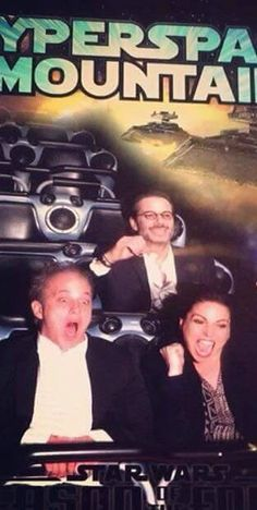 Awesome Lana Fred Mike on awesome #CyberSpaceMountain #Disneyland Anaheim Ca possibly Monday 12-7-15