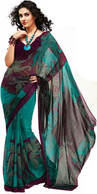 A stunning burgundy and teal sari. I wouldn t mind adding this one to fbe2bf765