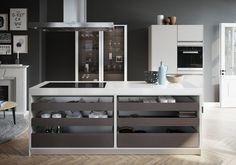 Ilot de cuisine design urbain par SieMatic.