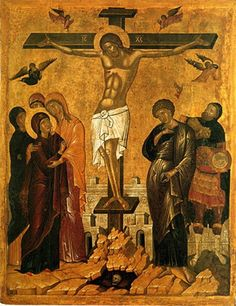 Crucifixion of Christ XVI century. Byzantine Museum in Athens Size: 101 x 80 cm