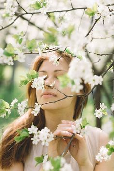 Stock photo of young woman and spring by AlexeyKuzma Spring Is Here, Spring Day, Spring Green, Hello Spring, Victor Hugo, Farm Senior Pictures, Breath Of Fresh Air, White Cottage, Spring Blossom