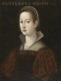 Contessina de 'Bardi werd geboren in ongeveer 1400 en stierf in 1473. Door haar huwelijk in de Medici familie, kreeg haar familie militaire steun en macht in Florence.