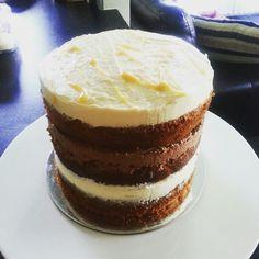 Banana layer cake different icings-cream cheese, salted caramel swiss meringue, choc..