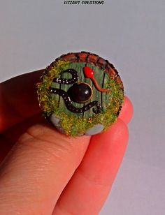 Hobbit Door RingLoTR RingPolymer Clay by LizzartsCreations on Etsy