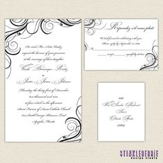 Formal Wedding Invitation by Stinkleberrie on Etsy,