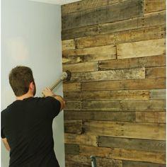 Timber slat wall feature