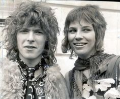 PKT3967-289169 ANGIE BOWIE 1978 Satin for the bedroom. Wedding day gear seventies style. Pop singer David Bowie wore a shaggy sheepskin coa, flowered shirt and black satin trousers for his mariage today to Amercian actress, 20-year-old Angela Barnett. Angela wore a 1920s type satin maxi dress. The couple who wed at Bromley Register Office, will live in Beckenham.