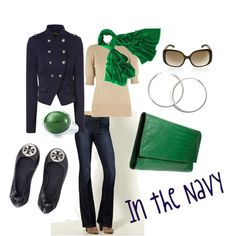 In the Navy, created by ceedub10 on Polyvore