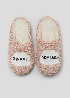 4b605b43003 Slogan Slipper Mules Bedroom Slippers