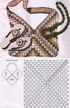 Transcendent Crochet a Solid Granny Square Ideas. Inconceivable Crochet a Solid Granny Square Ideas. Free Crochet Bag, Crochet Shell Stitch, Crochet Tote, Crochet Handbags, Crochet Purses, Crochet Granny, Diy Crochet, Crochet Diagram, Crochet Chart