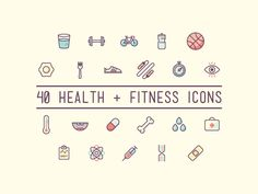 40 Free Health and Fitness Icons (AI, EPS, SVG, PNG)