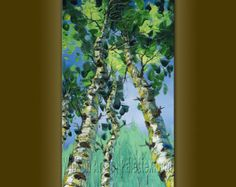 CUSTOM Modern Tree Art Seasons Original Landscape от willsonart