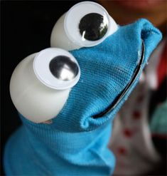 Cookie Monster Sock Puppet...sock Muppet puppets...for our Spring performance of a Muppets song ;)