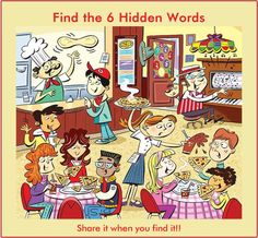Find 6 hidden words in the picture 4