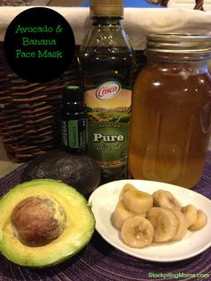 I love this all natural Avocado Banana Face Mask!