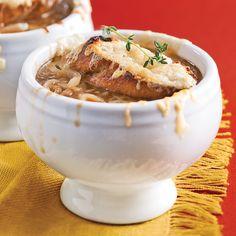 Soupe à l'oignon gratinée - Recettes - Cuisine et nutrition - Pratico Pratique