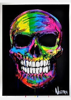 Image of Multi Color Skull Skull Tattoo Flowers, Skull Tattoos, Body Art Tattoos, Colorful Skulls, Beautiful Dark Art, Day Of The Dead Art, Skull Pictures, Skull Wallpaper, Pattern Wallpaper