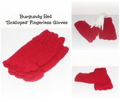 Burgundy Red Hand Crocheted Scalloped by ICreateAndCollect on Etsy