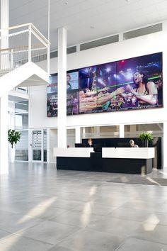 Reception - MTG's office interior design in Copenhagen - by Danielsen Spaceplanning