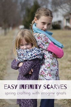 Easy #DIY Infinity Scarves from @Rachael (imagine gnats) | Supplies available at Joann.com | #craftmonthlove