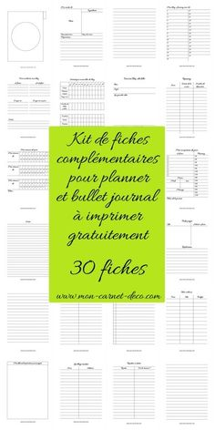 Bujo Planner, Life Planner, Printable Planner, Free Printable, Planner Ideas, Planner Organisation, Organization Bullet Journal, Life Organization, Bullet Book