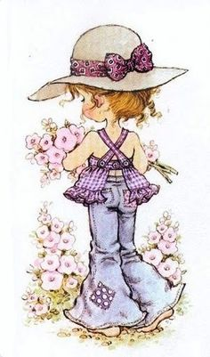 trendy Ideas for baby ilustration girl sarah kay Sarah Key, Holly Hobbie, Vintage Pictures, Cute Pictures, Papier Kind, Coloring Books, Coloring Pages, Hobby Horse, Digi Stamps