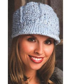 Knitting Pattern for Seed Stitch Newsboy Hat - #ad One of 15 hats in More Than a Dozen Hats & Beanies ebook. More pics at Annie's tba hat with brim