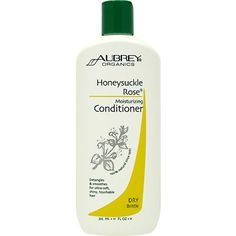 Aubrey Organics Honeysuckle Rose Moisturizing Conditioner - Vibrant, touchably soft hair with this moisture-intensive conditioner!