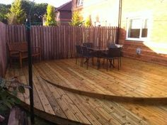 Wheelchair Ramp and Decking - Modern - glasgow - by First Class Joiners Ramp Design, Patio Design, Garden Design, House Design, Porch With Ramp, Cabana, Handicap Accessible Home, Handicap Ramps, Outdoor Spaces