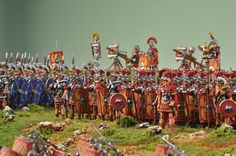Roman Legion in Combat Order 1st Century A.D DIORAMA 2 30 mm | Exclusive Dioramas | Exclusive Figures and Dioramas | Andrea Europe