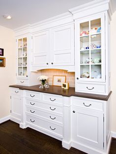 This Design Could Function As A Great Buffet Or Dry Bar The Glass Door Cabinets
