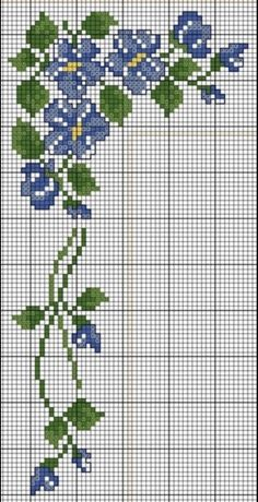 Cross Stitch Boarders, Cross Stitch Rose, Simple Cross Stitch, Cross Stitch Flowers, Cross Stitch Charts, Counted Cross Stitch Patterns, Cross Stitch Designs, Cross Stitching, Cross Stitch Embroidery