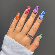 Stiletto Nails, Coffin Nails, Gel Nails, Cute Acrylic Nails, Cute Summer Nails, Spring Nails, Square Nails, Nail Art Designs, Engagement Rings