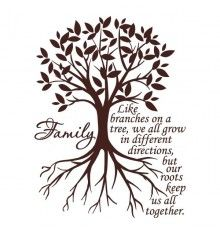 """Family. Like branches on a tree, we all grow in different directions, but our roots keep us all together."" #quote"
