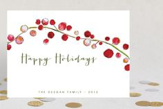 Holly Holidays by Petite Papier at minted.com