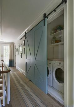 44 Inspiring Small Laundry Room Design Ideas - Modul Home Design Laundry Room Layouts, Small Laundry Rooms, Laundry Closet, Laundry Room Organization, Laundry Room Design, Organization Ideas, Storage Ideas, Small Closets, Laundry Storage