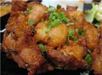 Mochiko Chicken!  Marinated chicken coated with Mochiko (japanese rice flour).  Kind of like a teriyaki fried chicken!