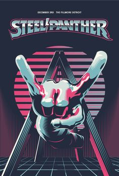 by Alex Sheldon Steel Panther, Heavy Metal Art, Ads Creative, Instruments, Alternative Music, Arctic Monkeys, Concert Posters, Funny Art, Music Artists