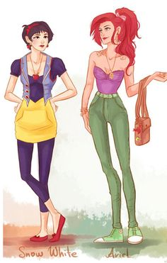 Princesas da Disney Modernas.