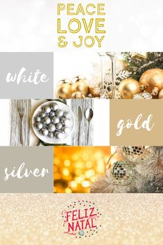 Find inspiration for adding those clean and crisp, bright and white, snuggly gold and silver festive vibes. Wishing you a Bright Festive Season! Color Inspiration, Peace And Love, Appreciation, Stress, Sparkle, Bright, In This Moment, Christmas, Silver