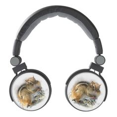 Feasting Chipmunk DJ Style Headphones