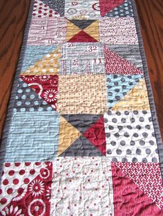 Reversible Moda Quilted Table Runner by CinnamonToastDesigns, $36.00