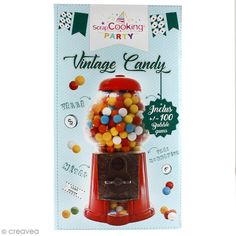 Distributeur de bonbons Vintage Scrapcooking - boules de bubble gum incluses