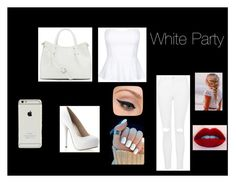 """Black and white Party"" by adelaideowusu123 on Polyvore featuring Topshop, Vince Camuto and LORAC"
