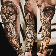 Bomb ass sleeve tattoo