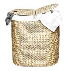 No need to hide your dirty laundry with this beautifully hand-woven hyacinth hamper!
